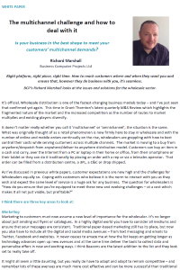 Multichannel challenge - How to deal with it - White Paper