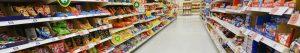 Stocked Supermarket Shelves