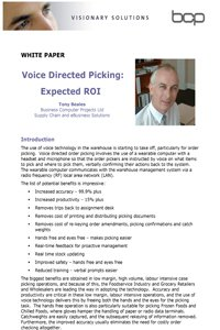 voice picking